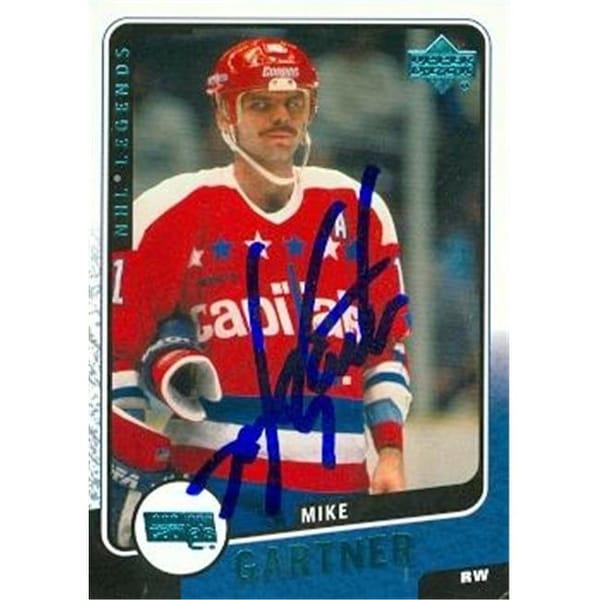Shop Mike Gartner Autographed Hockey Card Washington Capitals 2000 ... 12a669dee