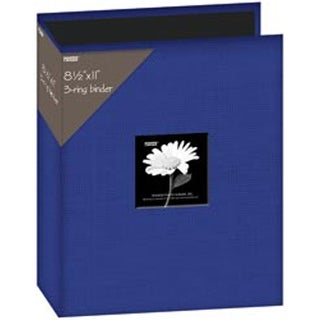 "Blue - Fabric 3-Ring Binder Album 8.5""X11"""
