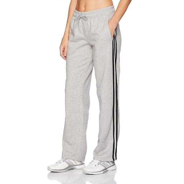 8f9af507a Adidas Women's Essentials Cotton Fleece 3 Stripe Open Hem Pants Grey  Size. Click to Zoom