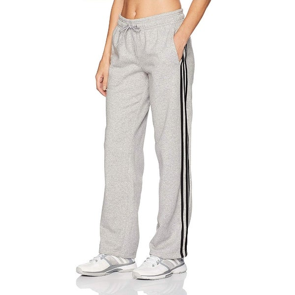 Adidas Womens 12 L Trousers Capri Sweatpants Black 3 Stripes Sport Black