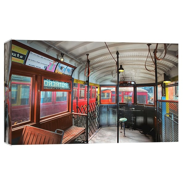 "PTM Images 9-101983 PTM Canvas Collection 8"" x 10"" - ""Potrero St. Trolley, San Francisco"" Giclee Transportation Art Print on"