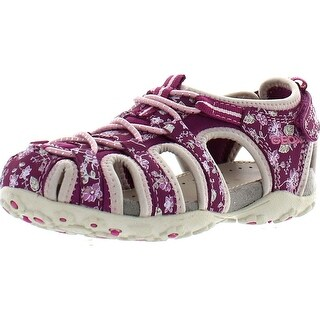 Geox Girls Jr Sandal Roxanne Water Friendly Protective Toe Fashion Outdoor Sandals