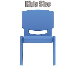 "2xhome - Blue - Kids Size Plastic Side Chair 10"" Seat Height Blue Childs Chair Childrens Room School Chairs No Arm Arms Armless"