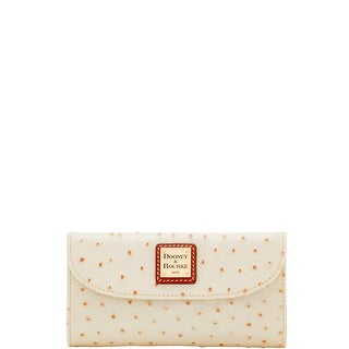 Dooney & Bourke Ostrich Embossed Leather Continental Clutch (Introduced by Dooney & Bourke at $128 in Jul 2014)