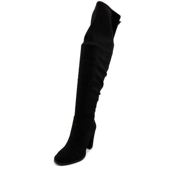 Vince Camuto Grady Women Round Toe Canvas Black Over the Knee Boot