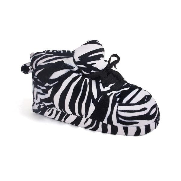 Happy Feet - Snooki's Black and White Zebra - Slippers - Zebra Print