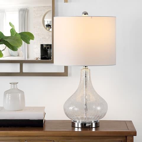 "SAFAVIEH Lighting 24-inch Brooks Glass Table Lamp - 13"" x 13"" x 24"""