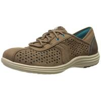 Aravon Womens BETTY-AR Low Top Lace Up Fashion Sneakers, Brown, Size 8.5