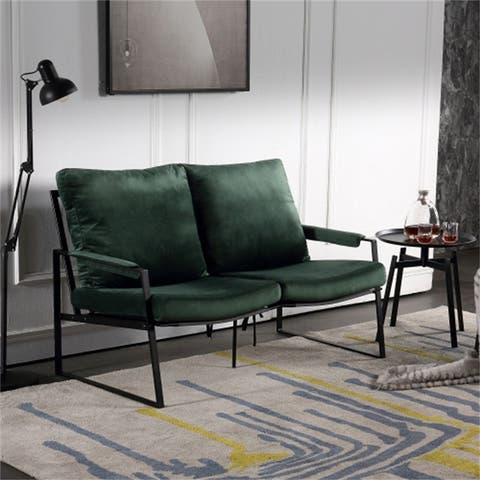 Medieval Solid Metal Double Sofa Casual Armchair With Cushion - L51.9*W32.2*H29.9