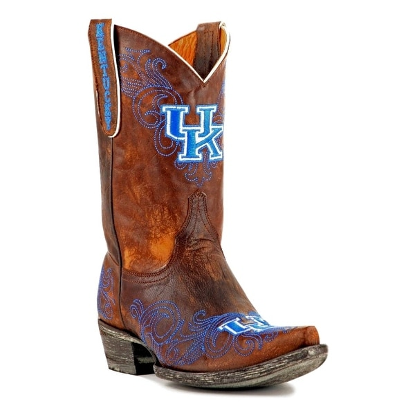 Gameday Boots Womens College Team Kentucky Wildcats Brass