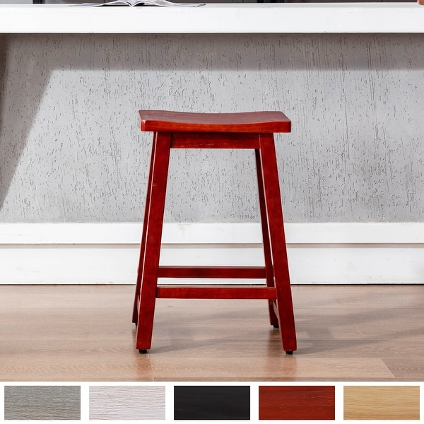 """Tylor 24""""Saddle Seat Counter Height Bar Stool. Opens flyout."""