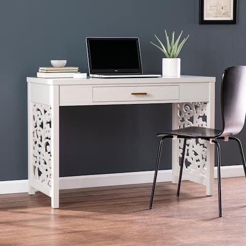 Copper Grove Irvine Transitional Gray Wood Desk