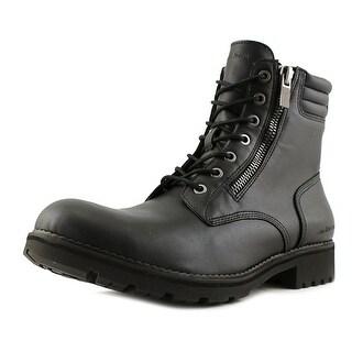 Calvin Klein Jeans Kai Men  Round Toe Leather Black Combat Boot