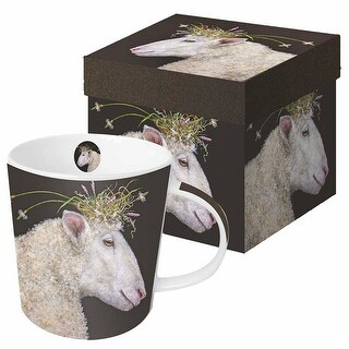 Wild & Wooly Coffee Mug - Vicki Sawyer 13.5 oz. Bone China Cup - Bianca Sheep
