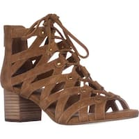 Aerosoles Middle Ground Lace-Up Sandals, Dark Tan Suede