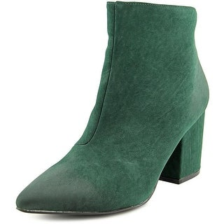 Penny Loves Kenny Total Women Pointed Toe Synthetic Green Ankle Boot