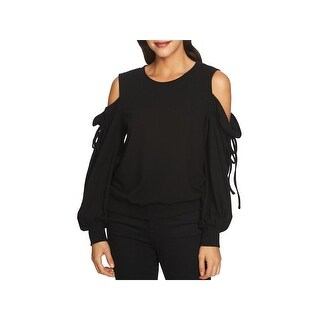 1.State Womens Sweatshirt Cold Shoulder Tie Sleeve