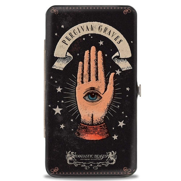 Fantastic Beasts And Where To Find Them Percival Graves Eye In Hand Icon Hinge Wallet - One Size Fits most