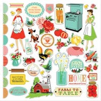 "Country Kitchen Cardstock Stickers 12""X12""-"