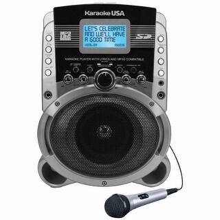 Karaoke USA SD519 Portable Karaoke System with Lyric Screen & MP3+G Compatible