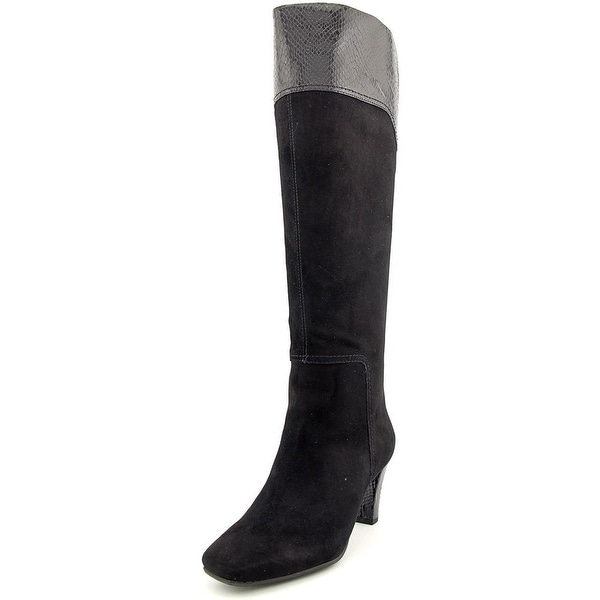 Bandolino Viet Women Square Toe Suede Knee High Boot