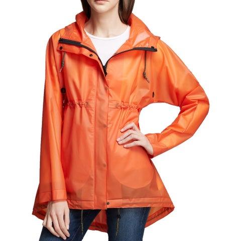 Hunter Orange Womens Size Small S Original Vinyl Smock Raincoat