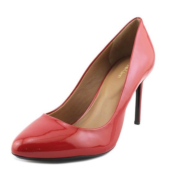374875cb028 Shop Calvin Klein Salene Women Round Toe Patent Leather Red Heels ...