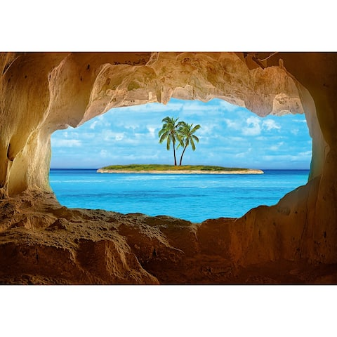 "Brewster DM166 Ideal Décor 100"" x 144"" - Paradise - Vinyl Wall Mural - - Blue"