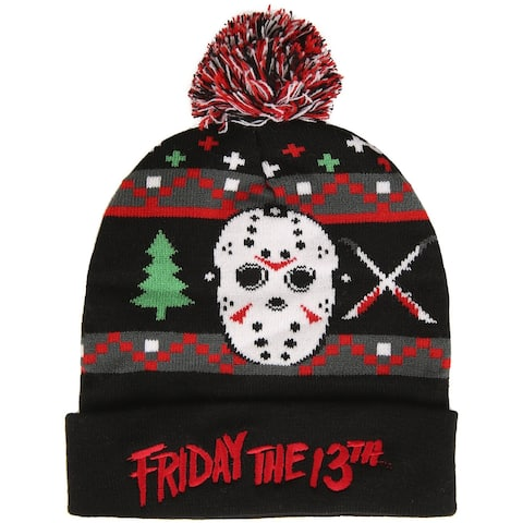 Friday the 13th Jason Voorhees Ugly Christmas Knit Beanie