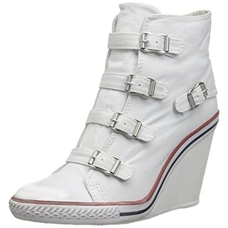 ASH Womens Thelma Leather Wedge Fashion Sneakers