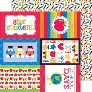 """School Double-Sided Cardstock 12""""X12""""-Crayon Box"""