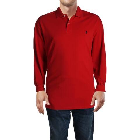 Polo Ralph Lauren Mens Big & Tall Polo Shirt Cotton Logo - Red