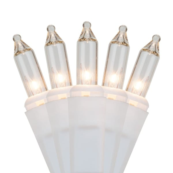 "Wintergreen Lighting 15193 25.5' Long Indoor Standard 50 Mini Light Holiday Light Strand with 6"" Spacing and White Wire"