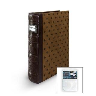 Bellagio-Italia DVD/CD Storage Tuscany Chestnut Binder with Insert Sheets