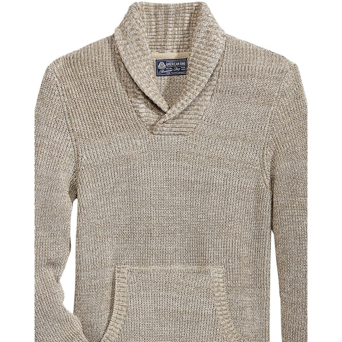 American Rag Mens Asymmetrical Hoodie Sweatshirt