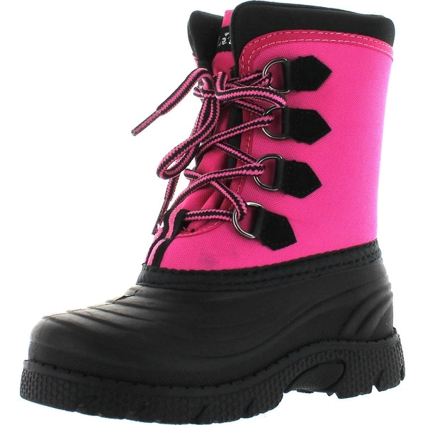Rain 36K Lined Lace Up Winter Snow Boots Fuchsia