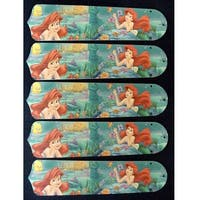 Disney's Little Mermaid Custom Designer 52in Ceiling Fan Blades Set - Multi