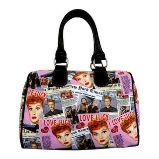 I Love Lucy Signature Product Women's I Love Lucy Collage Satchel Bag LU612 Black - US Women's One Size (Size None)