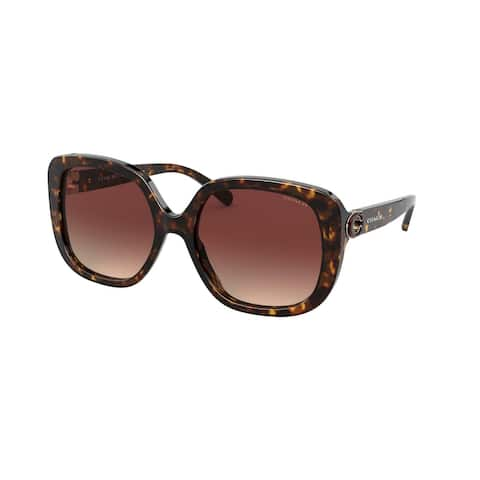 Coach HC8292 512013 56 Dark Tortoise Woman Square Sunglasses