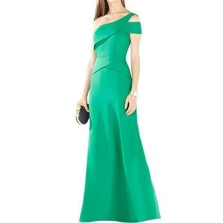 BCBG Max Azria Womens Annely Evening Dress One Shoulder Peplum