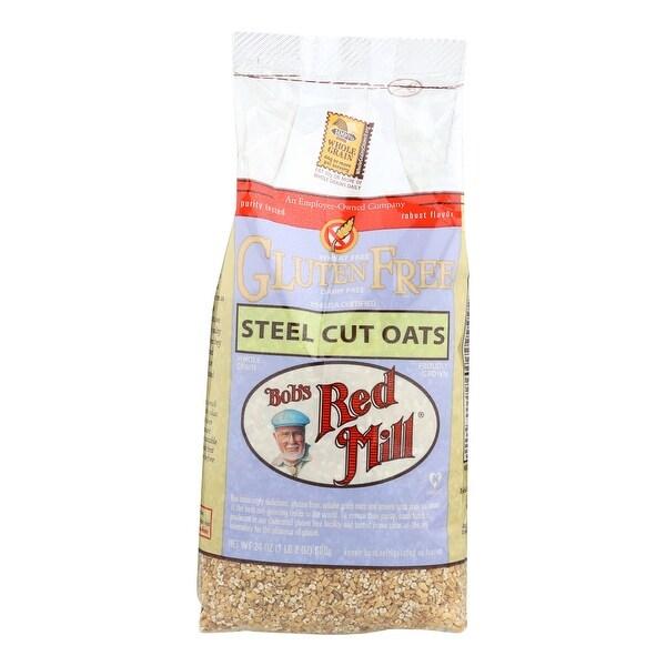 Bob's Red Mill Gluten Free Steel Cut Oats - 24 oz - Case of 4