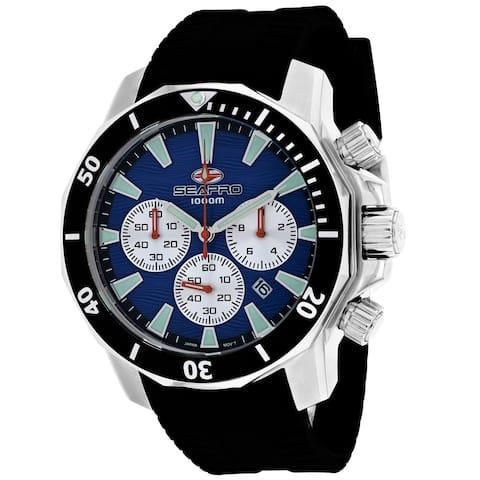 Seapro Men's Scuba Dragon Diver Limited Edition 1000 Meters Blue Dial Watch - SP8345R