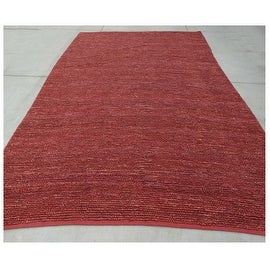 9.6x13.6 Feet Burgundy Red Huge Over sized Jute Wool Carpet Rug Modern Contemporary