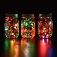 Image Solar Mason Jar String Light with Color Changing LED for Christmas