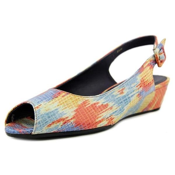 Vaneli Elrica N/S Peep-Toe Synthetic Slingback Heel