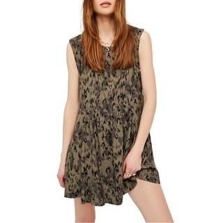 Link to Free People Womens Fake Love Printed Mini Dress Similar Items in Dresses
