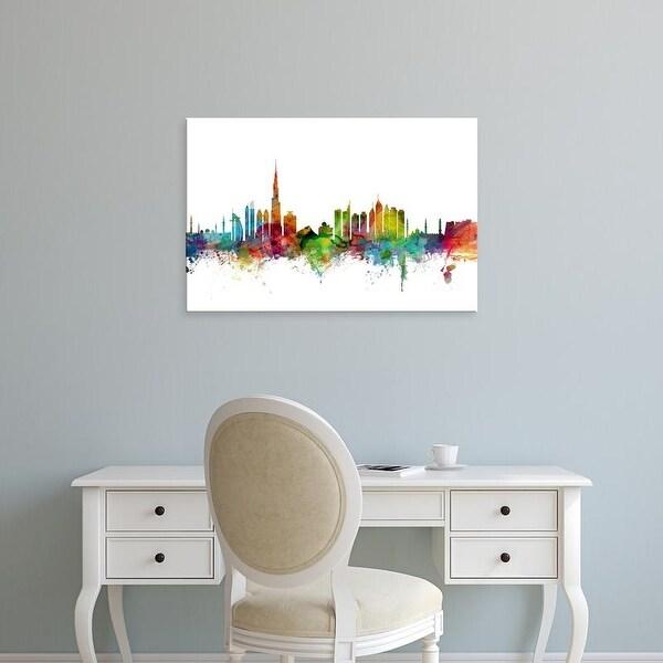 Easy Art Prints Michael Tompsett's 'Dubai Skyline' Premium Canvas Art
