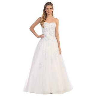 Strapless Embellished Tulle A-Line