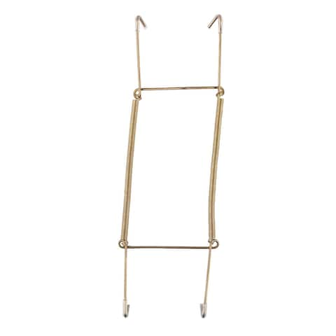 """Metal 8.7 to 11 Inch Spring Plate Hangers Wall Holder Hook Display - Gold Tone - 8.7"""" x 3""""(L*W)"""