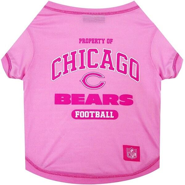 uk availability f1908 ecf42 NFL Chicago Bears Pink Tee Shirt